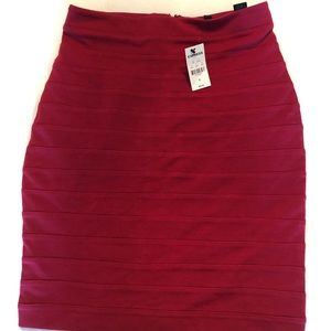 NWT Red Pencil Skirt